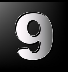Number 9 sign design template element vector