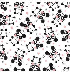Panda body pattern vector