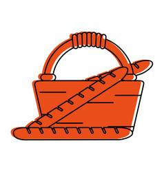 Picnic basket icon image vector