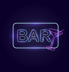Realistic glowing neon signs vector