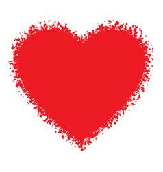 Red Hand Drawn Grunge Heart logo vector image