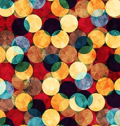 retro circle seamless texture with grunge effect vector image