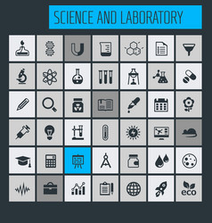 science and laboratory icon set vector image
