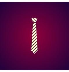 Simple icon tie vector image vector image