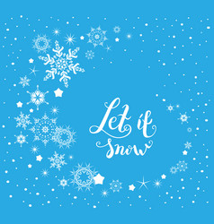 snow nature lettering vector image