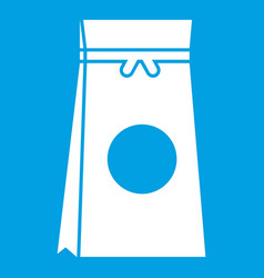 Tea packed in a paper bag icon white vector