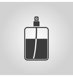 The perfume icon Cologne symbol Flat vector image