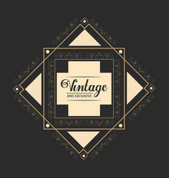 Vintage and exclusive luxury legant badge dark vector