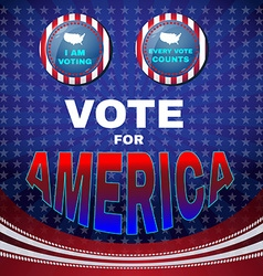 Vote for america i am voting banner vector