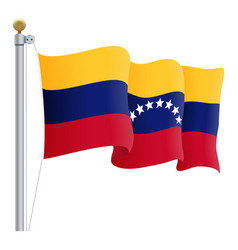 waving venezuela flag isolated on a white vector image vector image