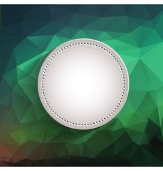 White button - app icon template vector