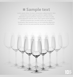 wineglass glass vector image