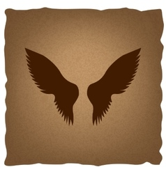 Wings sign vintage effect vector