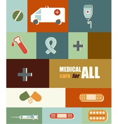 Medical with infographic elements vector