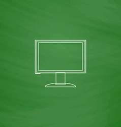 Pc monitor computer symbol vector