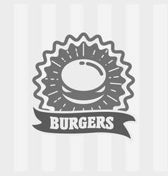 vintage fast food logo icon or badge vector image