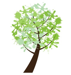 abstract tree ink vector image