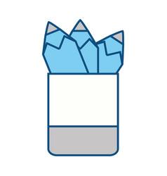 school pencil case vector image