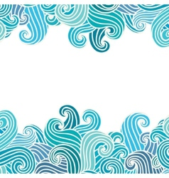 Hand drawn wavy background vector