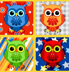 Seamless patchwork birds-3 vector