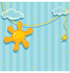 good morning background vector image
