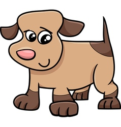 Puppy cartoon character vector