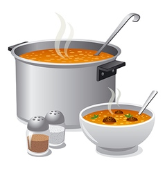 Hot soup vector