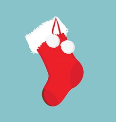 Christmas sock icon vector