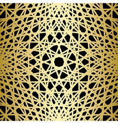 gold knitted lines on black background vector image