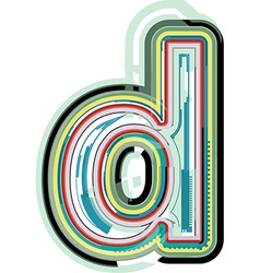 Abstract colorful letter d vector