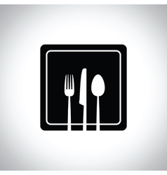 black square plate vector image