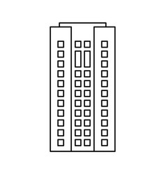 Building architecture residential skyscraper vector