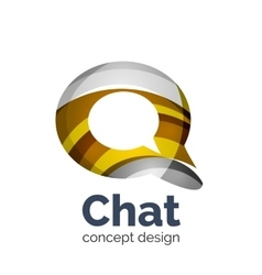 Business logo template - chat cloud vector image vector image