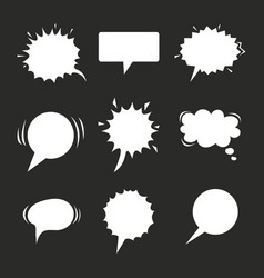 Cartoon speech balloons collection on chalkboard vector