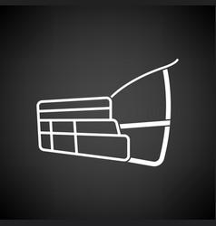 Dog muzzle icon vector