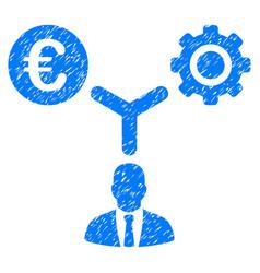 Euro financial development grunge icon vector