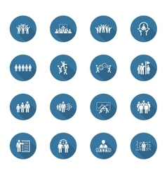 Flat Design Business Team Icons Set vector image vector image