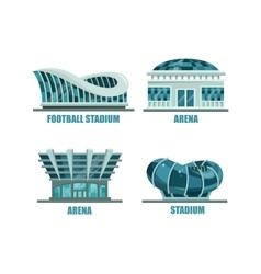 Glassware futuristic football or soccer stadium vector