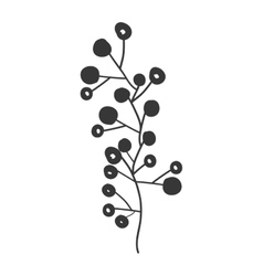Gray scale branch olive with fruits vector