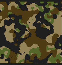 Green and black camouflage pattern - military vector