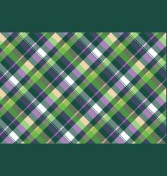 Green purple seamless pattern check fabric texture vector