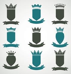 Heraldic royal blazon set - imperial striped decor vector image