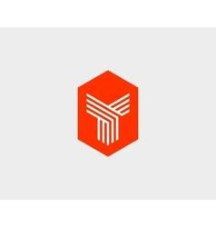 Letter Y logo icon design Creative line vector image vector image