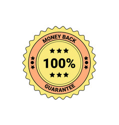money back guarantee element badge or label vector image
