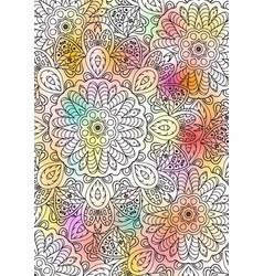 Multicolored book sheet book cover mandala vector