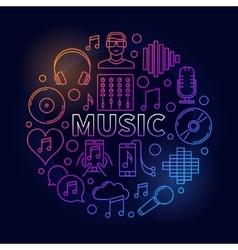 Music dark round vector