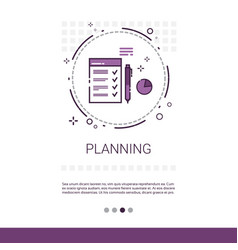 Planning project development startup banner with vector