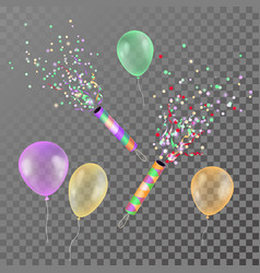 realistic colorful transparent balloons for vector image vector image