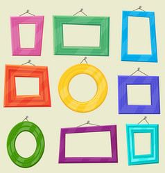 set of cartoon picture frames vector image