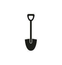 shovel black icon vector image